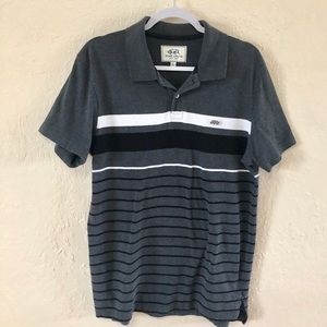 Men's Gray stripped polo shirt by Ecko unlimited